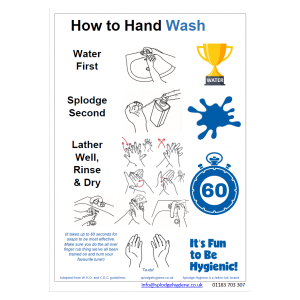 Laminated A4 hand hygiene poster